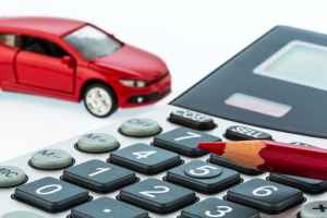 Calculator with a car in the background (2)