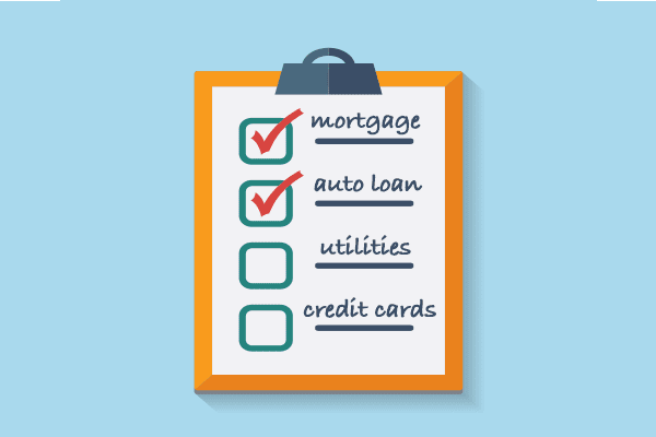 Checklist of debts to pay first